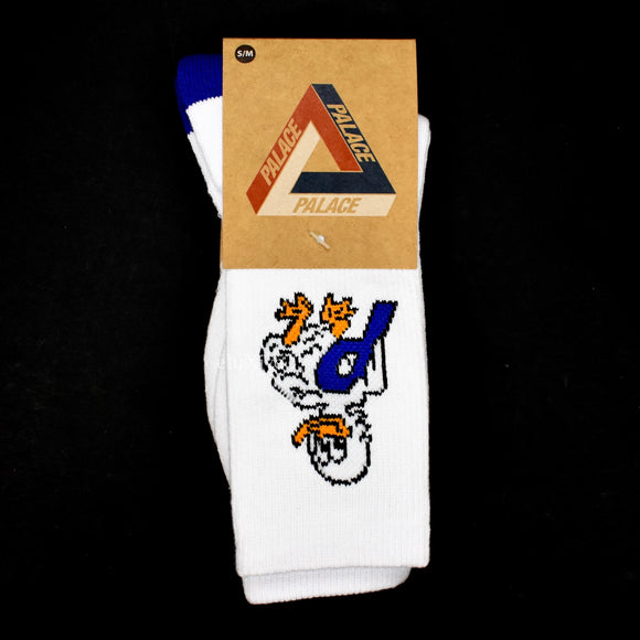 Palace - Duck Out P-Logo Socks (White)