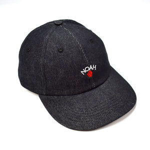 Noah - Black Denim Rose Logo Hat