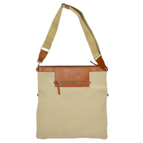 Maison Margiela - Beige Canvas & Leather Shoulder Bag
