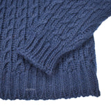 Barena - Navy Wool & Alpaca Cable Knit Sweater
