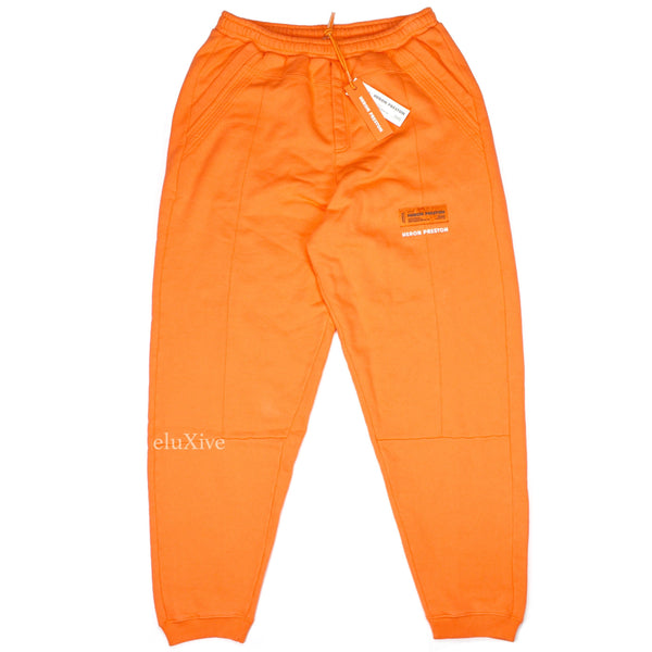 Heron Preston - Orange Logo Patch Sweatpants