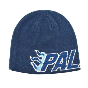 Palace - Flame Grill Logo Knit Beanie (Navy)