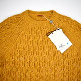 Barena - Mustard Wool & Alpaca Cable Knit Sweater