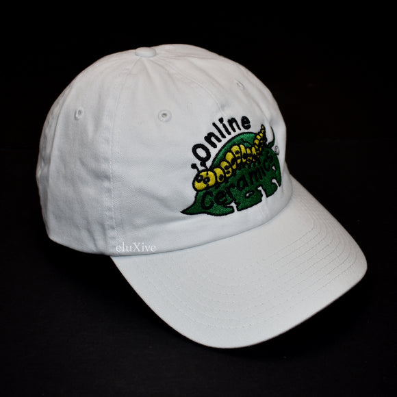 Online Ceramics - Everything Counts Caterpillar Logo Hat (White)
