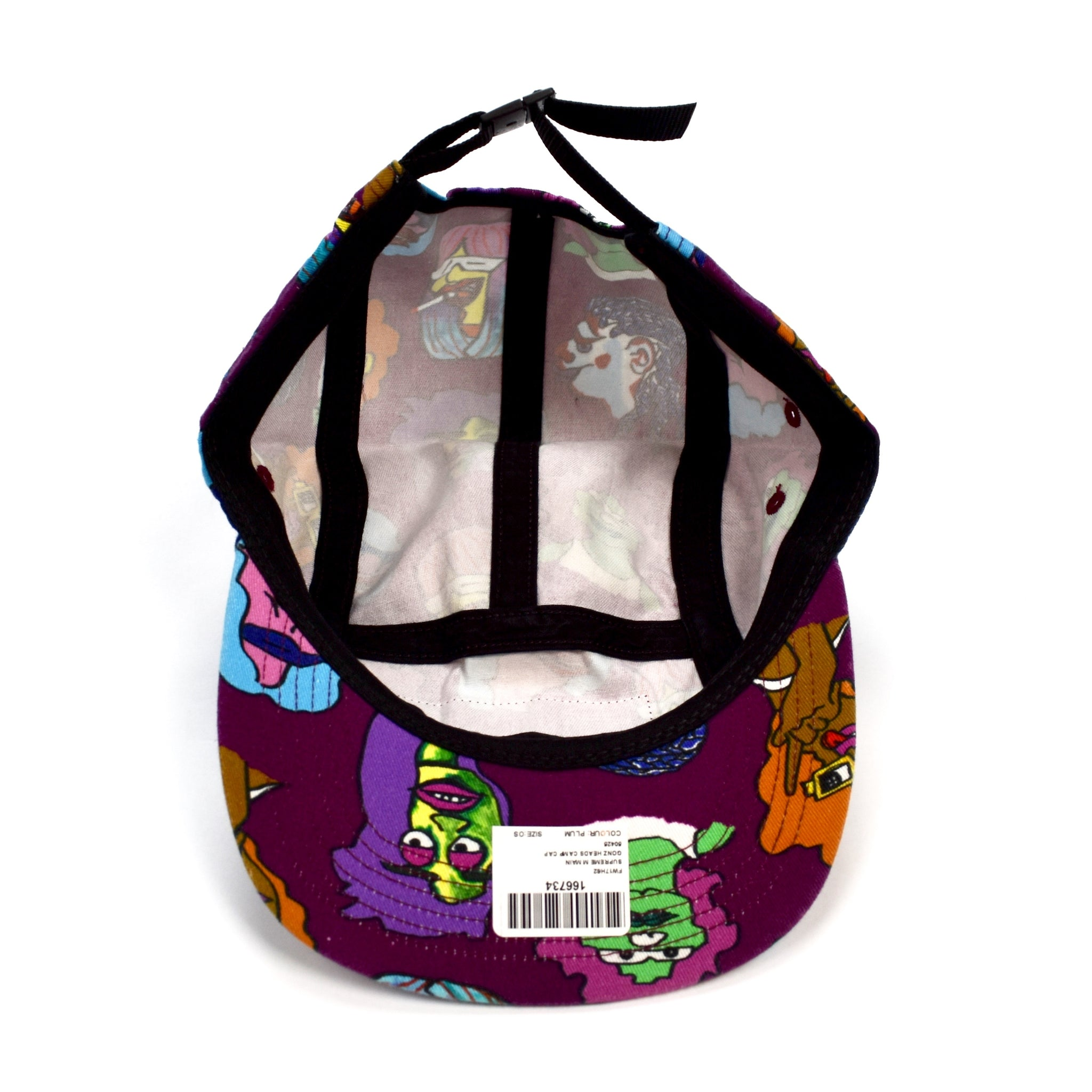 c94962a9d7f Supreme - Purple Gonz Head Print Box Logo Camp Cap Hat – eluXive