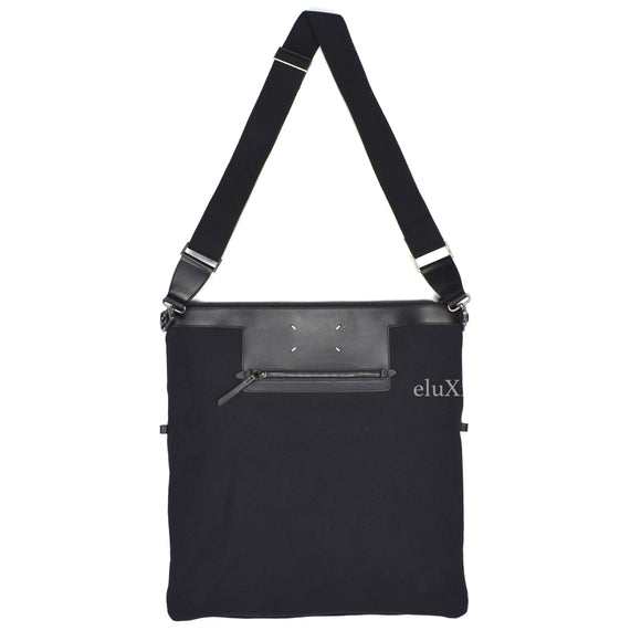 Maison Margiela - Black Canvas & Leather Shoulder Bag