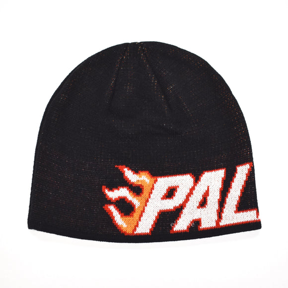 Palace - Flame Grill Logo Knit Beanie (Black)