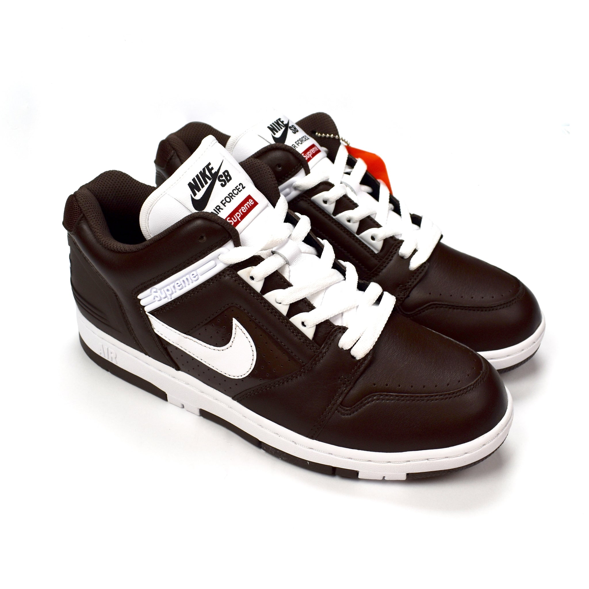 Nike Sb Af2 Men's Brown Air X Low Sneakers Supreme Force Baroque y8N0Onvwm