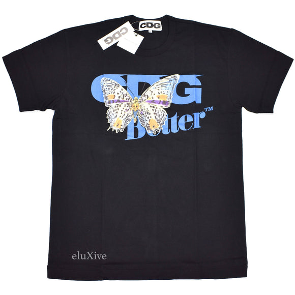 Comme Des Garcons x Better - CDG Butterfly Logo T-Shirt (Black)