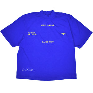 Kanye West - Jesus Is King Vinyl Cover T-Shirt (Blue)