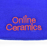 Online Ceramics - Logo Embroidered Beanie (Blue)
