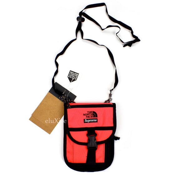 Supreme x The North Face - Logo Embroidered Utility Pouch (Rocket Red)