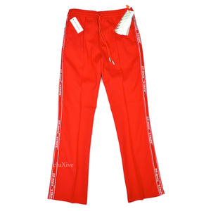 Off-White - Red Stripe Logo Track Pants