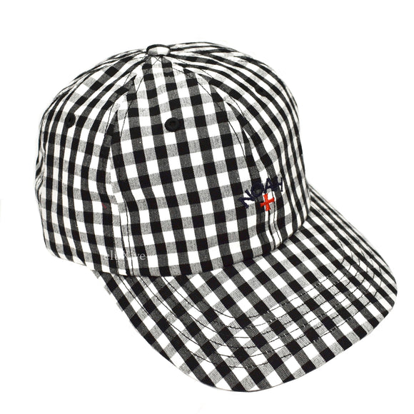 Noah - Plaid Core Logo Hat (Black/White)