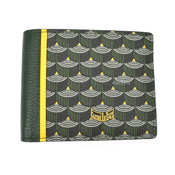 Faure Le Page - Empire Green / Yellow 6CC Bifold Wallet (2019)