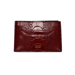 Tom Ford - Red Exotic Lizard Card Holder