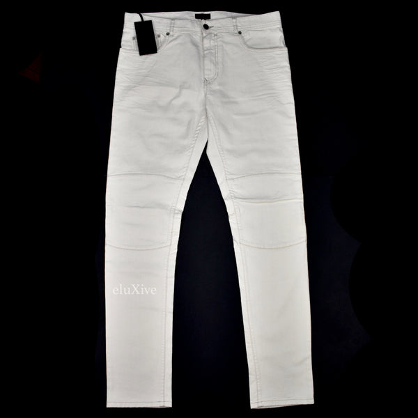 Belstaff - Natural White Denim Biker Jeans