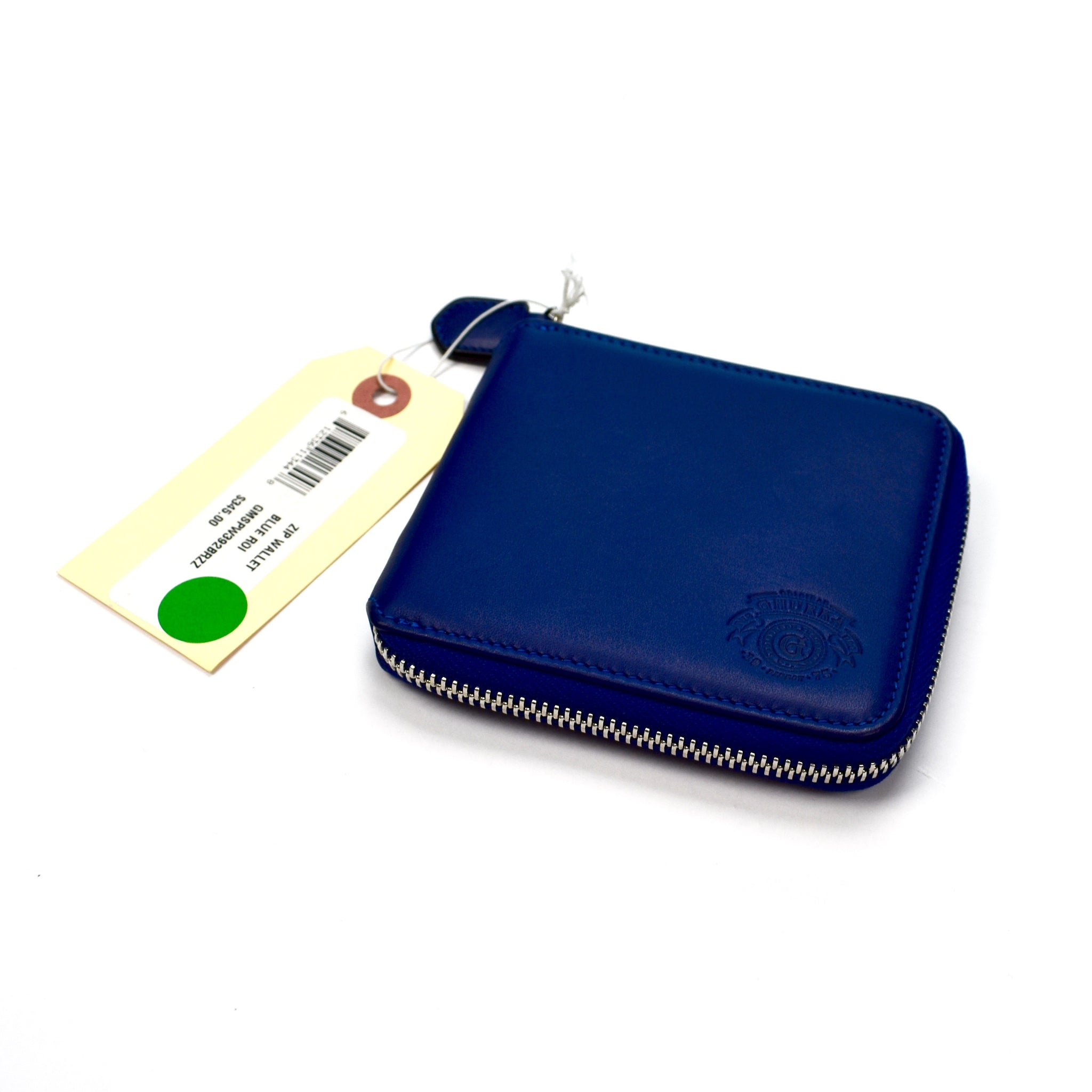 Ghurka - Blue Leather Zipper Wallet