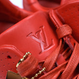 Louis Vuitton x Supreme - Red Leather Run Away Sneakers