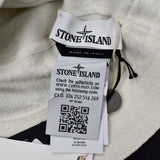 Stone Island - Wool Terry Knit Logo Bucket Hat (White)