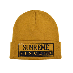 Supreme - Since 1994 Logo Beanie (Tan)