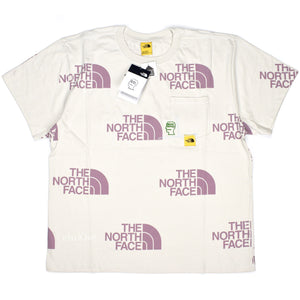 Brain Dead x The North Face - Allover Logo Print T-Shirt (Ivory)
