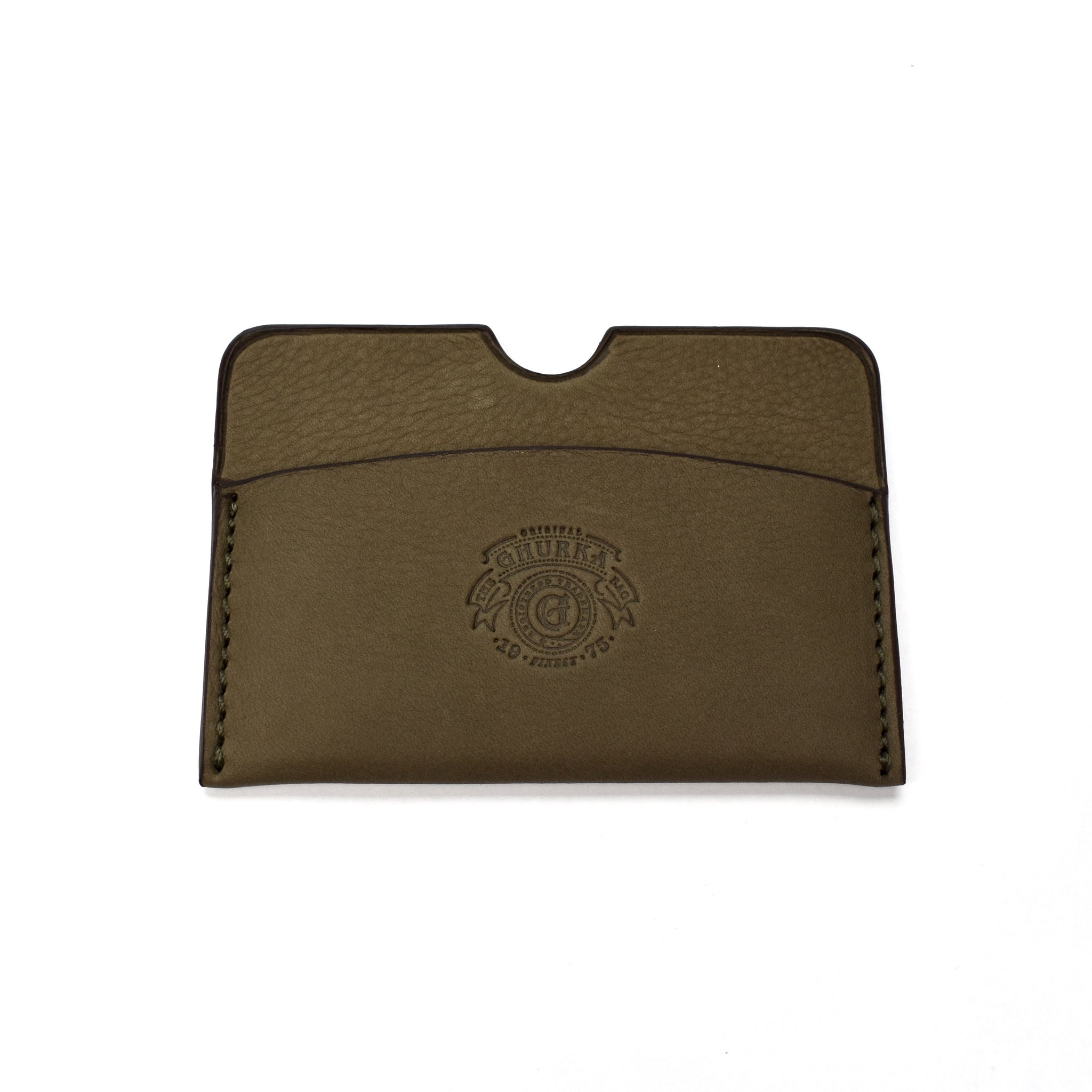 Ghurka - Tumbled Khaki Leather Card Holder