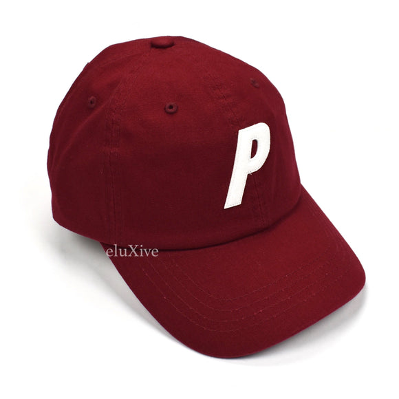 Palace - Dark Red P-Logo Canvas Hat (SS20)