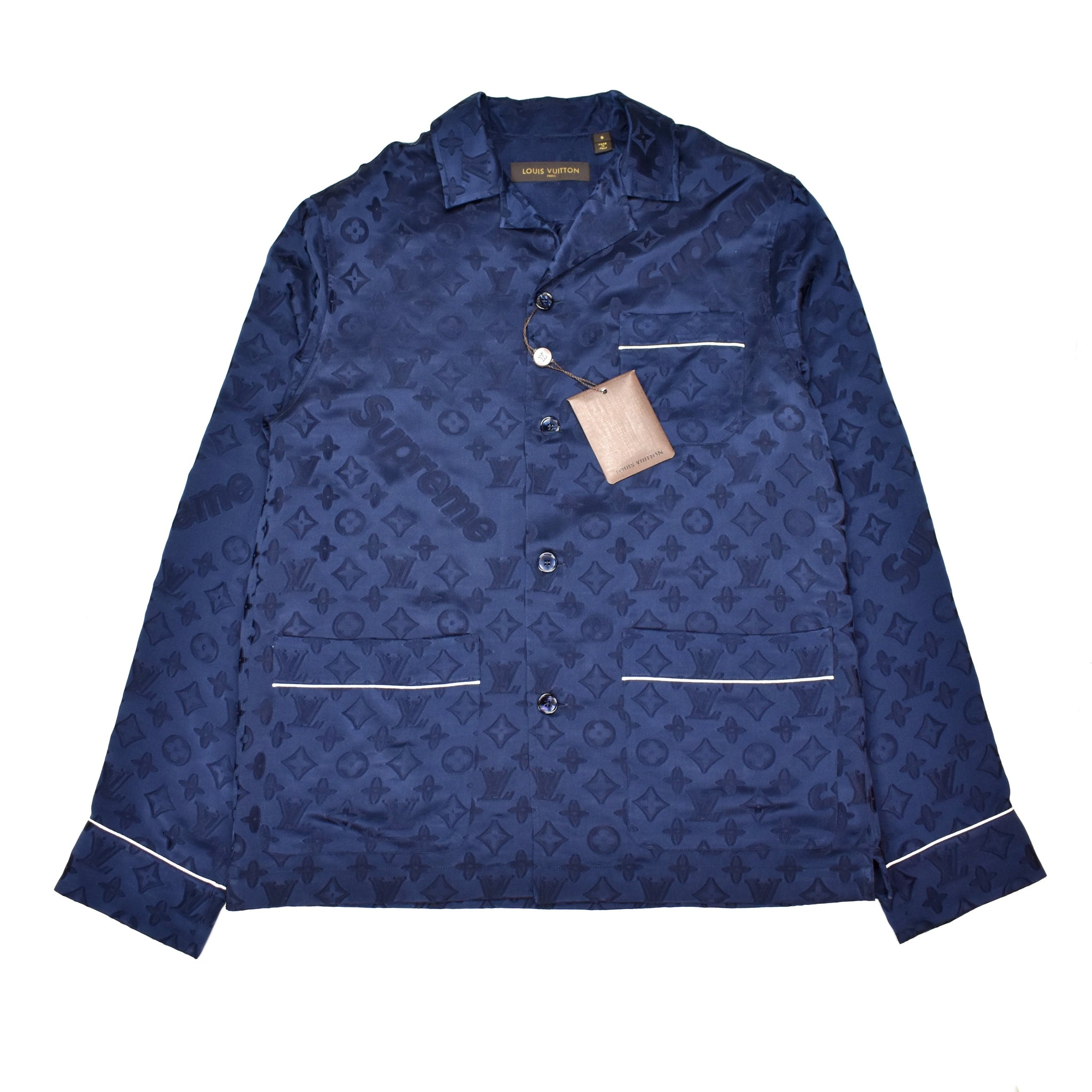 Louis Vuitton x Supreme - Navy Monogram Pajama Shirt