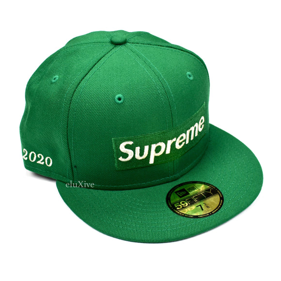 Supreme x New Era - Metallic Box Logo Hat (Green)