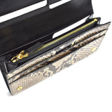 Tom Ford - Beige Exotic Python Long Wallet