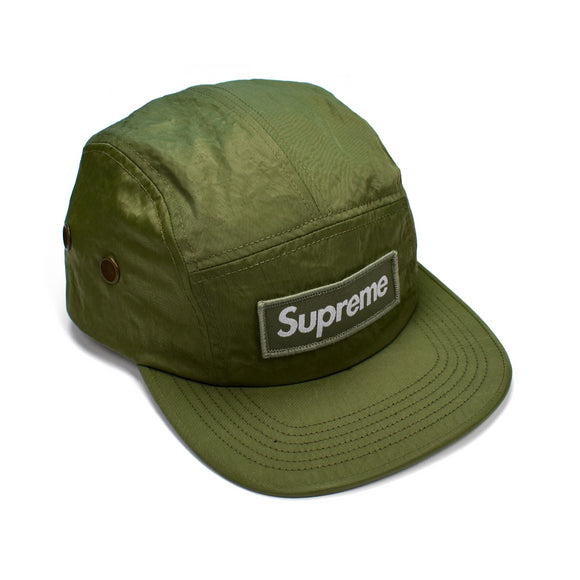 Supreme - Olive Nylon Box Logo Hat