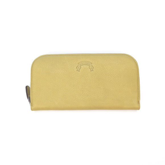 Ghurka - Beige Leather Continental Wallet