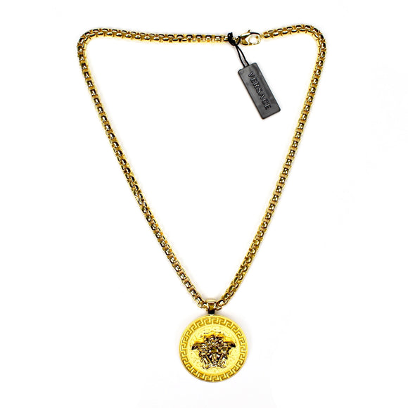 Versace - Large Gold Medusa Logo Chain Necklace
