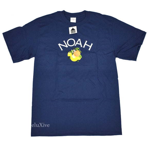 Noah - Citrus Core Logo T-Shirt (Navy)