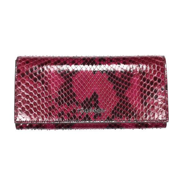 Tom Ford - Candy Red Exotic Python Long Wallet