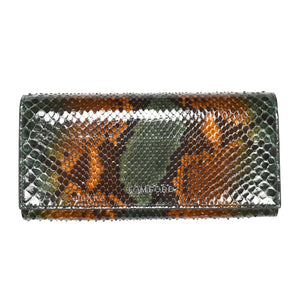 Tom Ford - Green / Brown Exotic Python Long Wallet