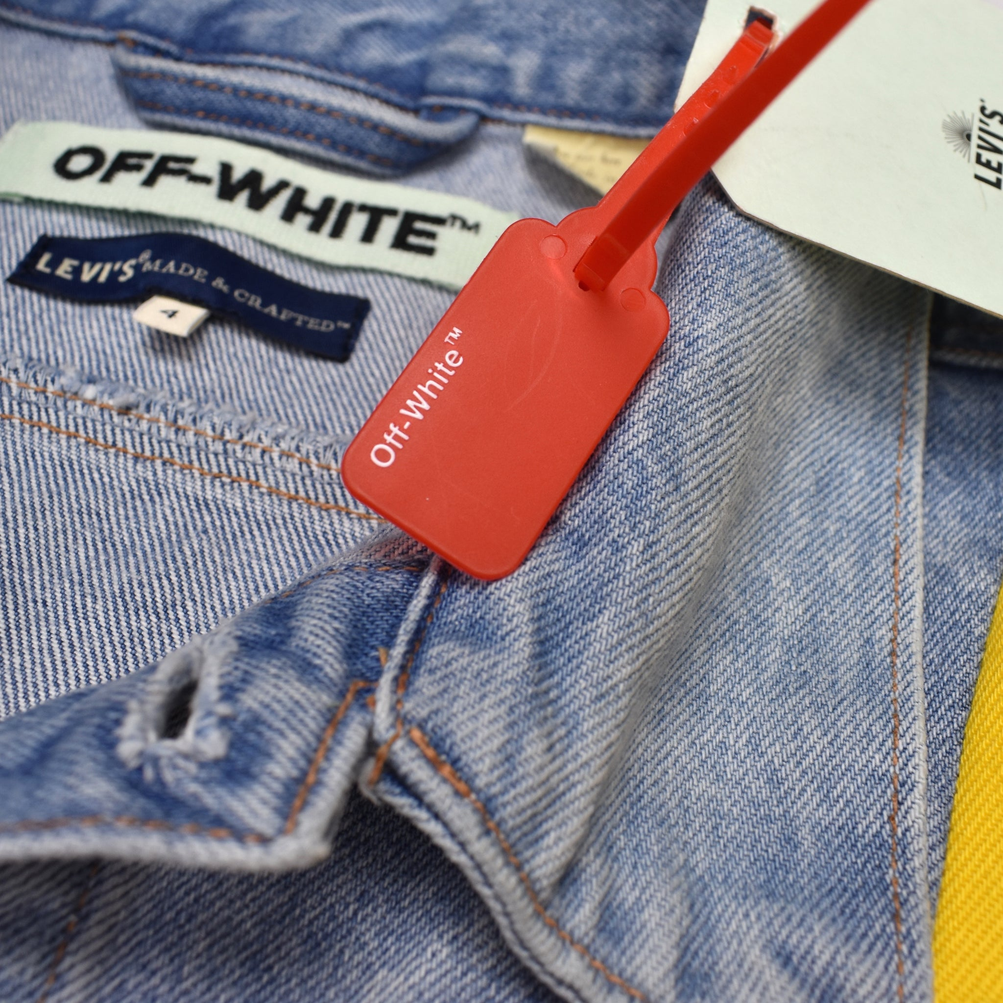 Off-White x Levi's - Paneled Denim Trucker Jacket