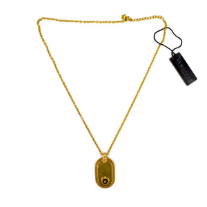 Versace - Gold Vintage Effect Medusa Dog Tag Necklace