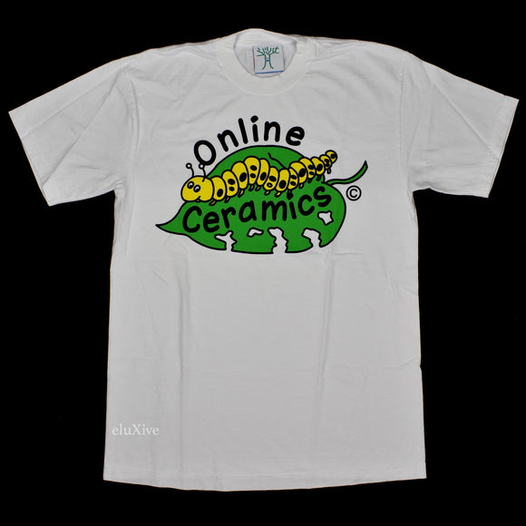 Online Ceramics - Everything Counts Caterpillar Logo T-Shirt (White)