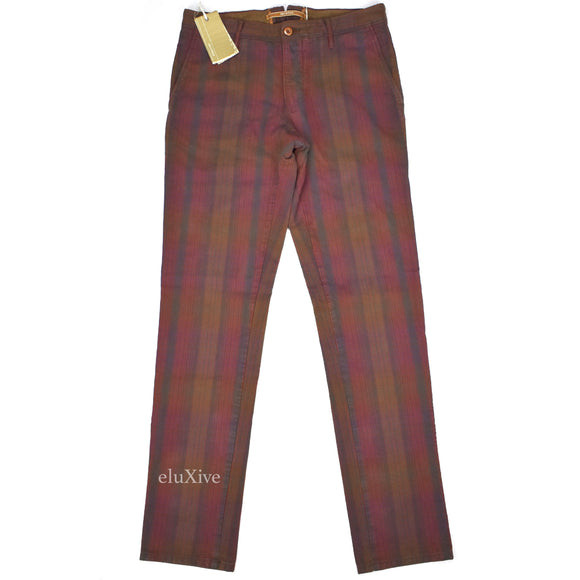 Incotex - 50's Edition Plaid Stripe Cotton Pants