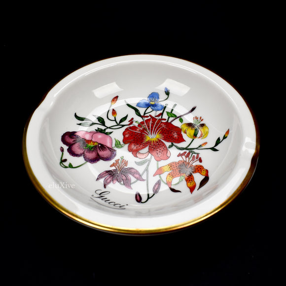 Gucci - Flora Print Round Ashtray