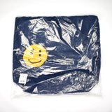 Cactus Plant Flea Market - Smiley Face Fur Tote Bag (Navy)
