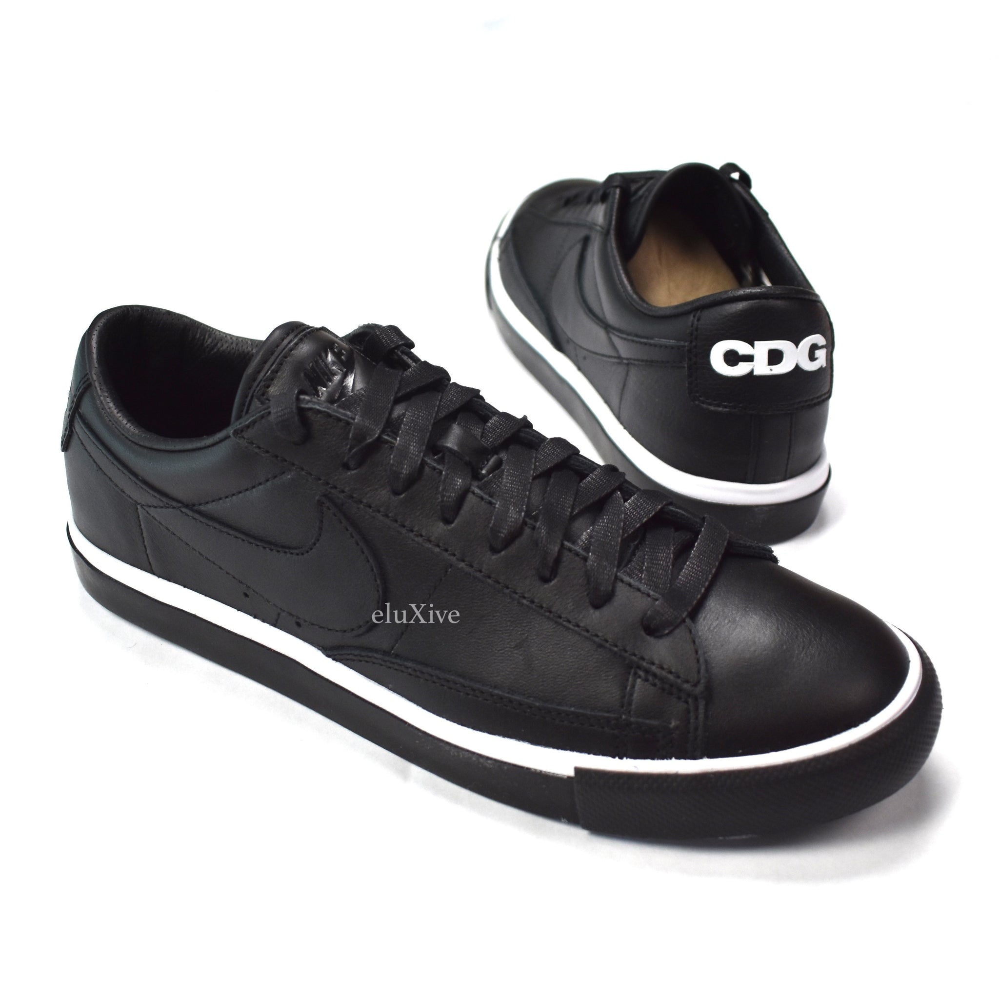 Comme des Garcons x Nike - Black Leather Blazer Low CDG Sneakers ... 03d85ed73