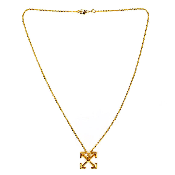 Off-White - Gold Arrows Logo Chain Necklace