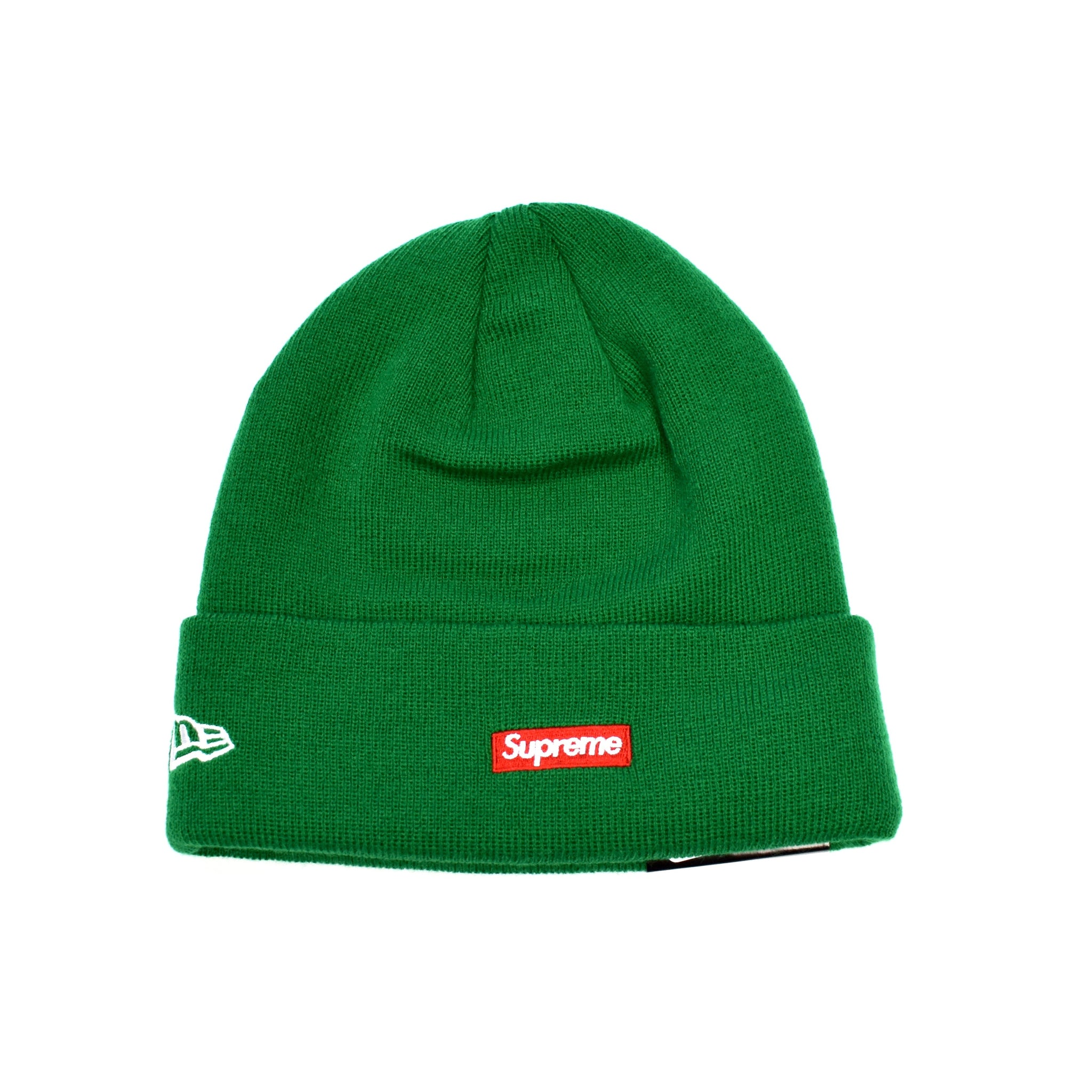 d1c0fbdd32126 Supreme x New Era - Kelly Green  S  Logo   Box Logo Beanie Knit Hat ...