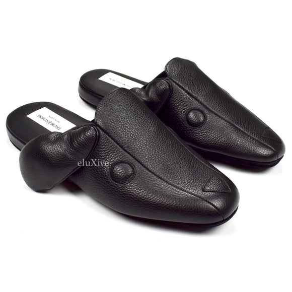 Thom Browne - Black Leather 'Hector' Dog Slippers