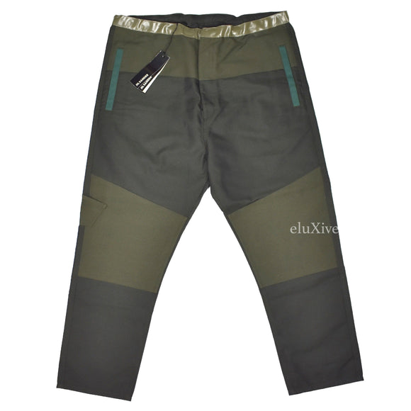 Jil Sander - Olive Patchwork Military Fabric Pants