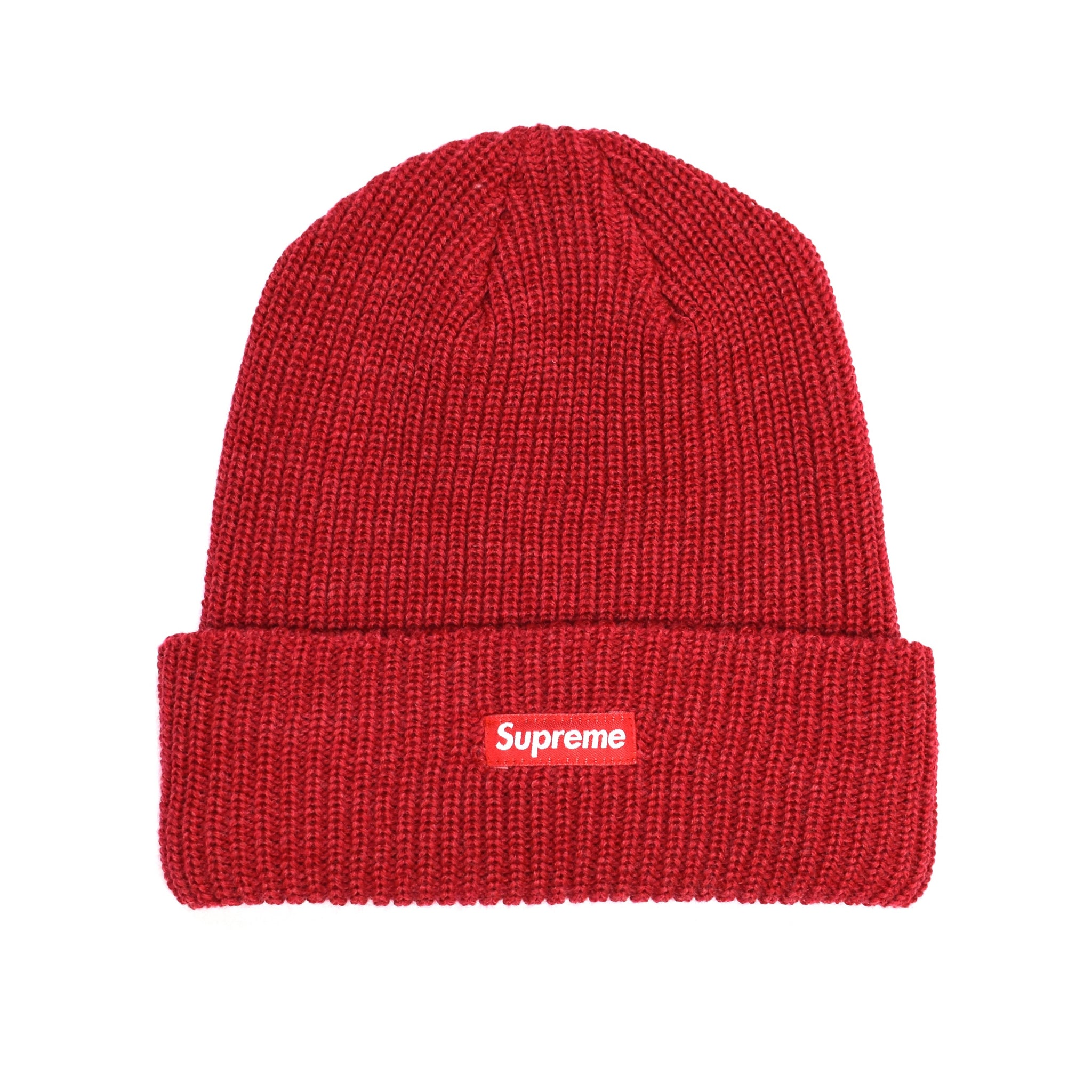 Supreme  - Cranberry Box Logo Beanie