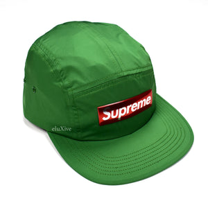 Supreme - Green Box Logo Liquid Metal Hat